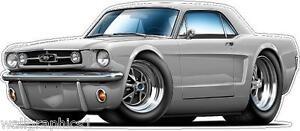 Ford Mustang Gt 289 Hp 1965 Coches Pared Calcomanía Adhesivo De