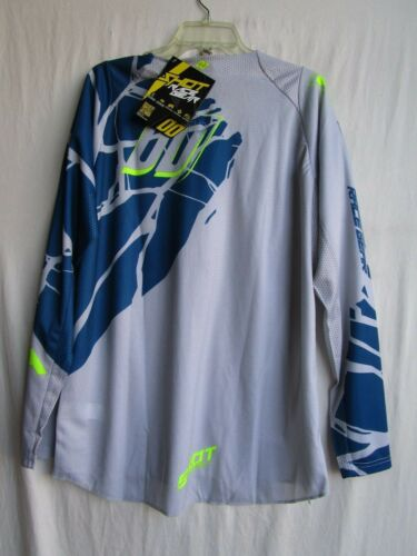 SHOT race gear MAGMA motocross men/'s jersey MEDIUM  A0E-12A1-A01-09 blue//neon
