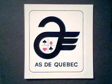 AHL QUEBEC ACES  1960'S TEAM LOGO DECAL CARD