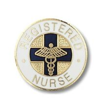 LOT of  10 - Gold Plated Hand-Crafted RN - Registered Nurse Lapel Pin Jewelry