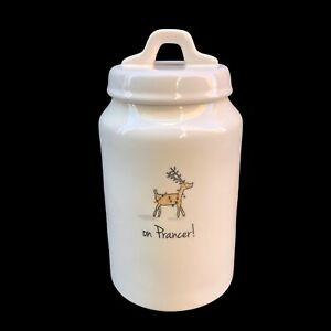 Rae-Dunn-by-Magenta-On-Prancer-Reindeer-Holiday-Canister-Rare-HTF