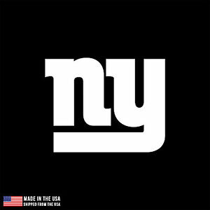 ny giants logo vinyl sticker car laptop room window decal football