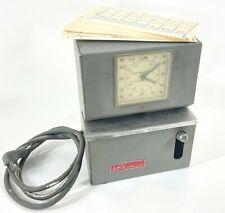 Lathem Time Recorder Clock Model 2124l 115v Vintage Mechanical Electric
