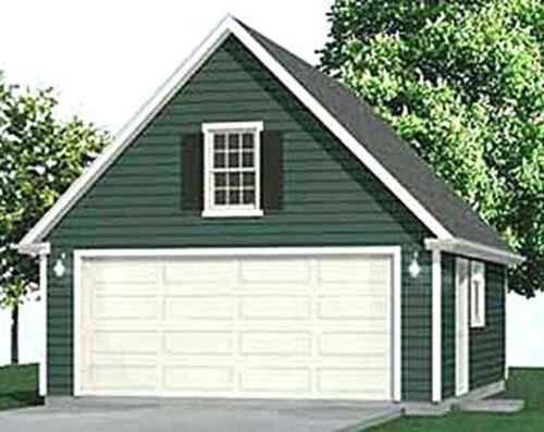 Two Car Garage Building Digital Blueprint PlansFull Construction Drawings I PDF