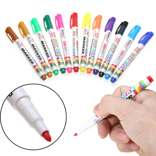 12colour Set Whiteboard Marker Non Toxic Dry Erase Easy