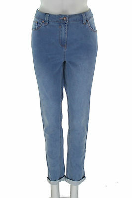 M&Co Blue Silm Jeans - SIze UK 16 - (ID 14689)