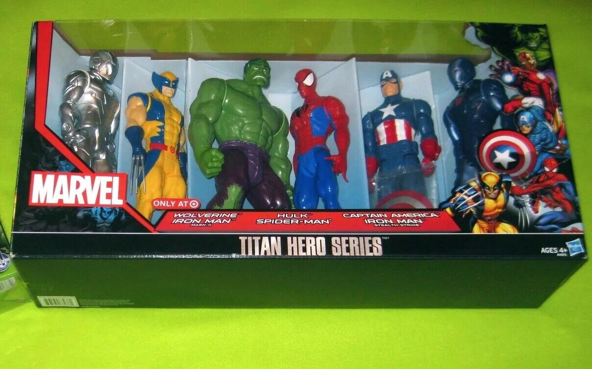 Marvel Titan Hero Series 6 Target 12  action figures Spiderman X-MEN IRONMAN
