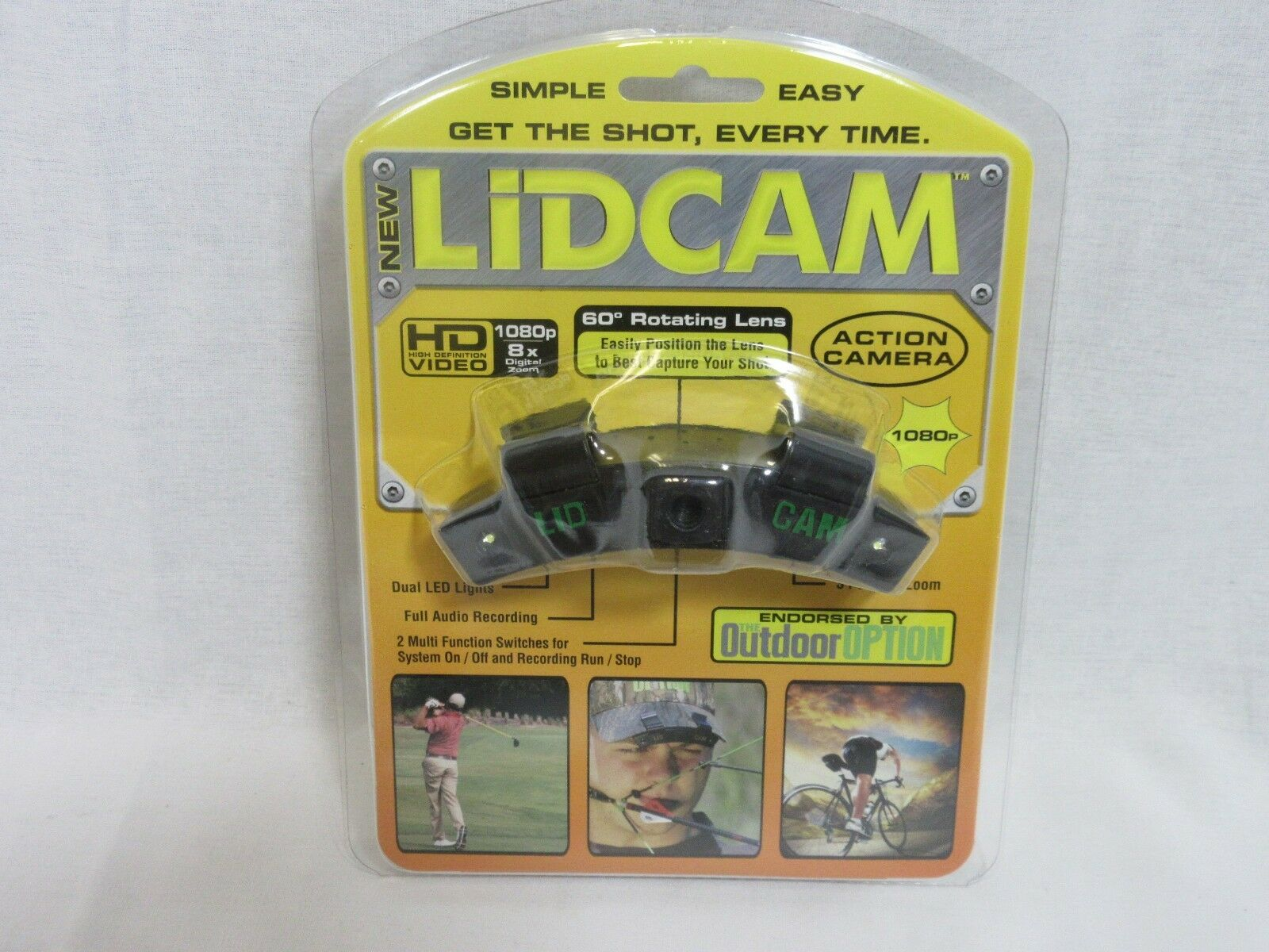 Lidcam Wearable Action Camera Hat Mounted 1080P Black