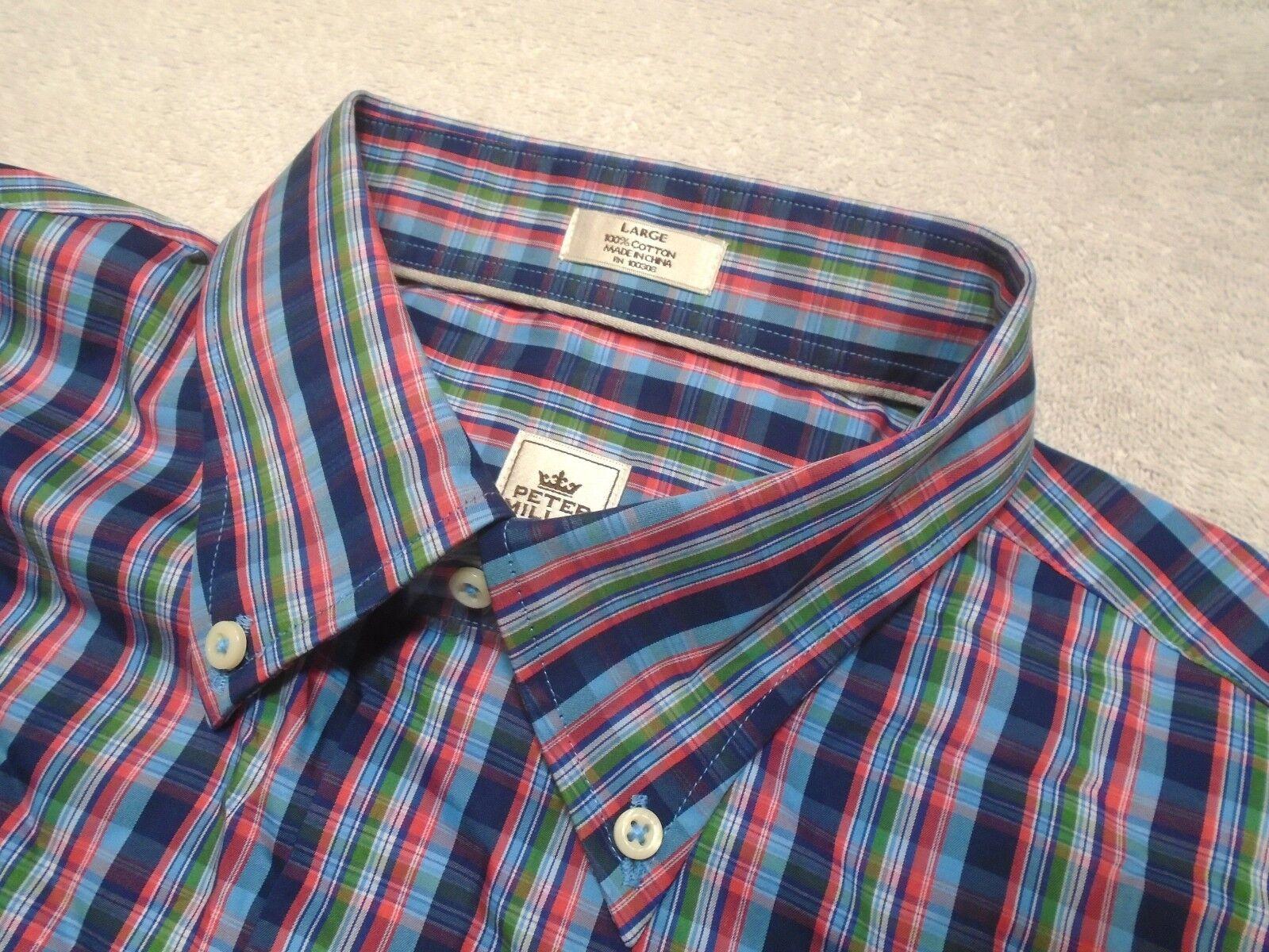 Peter Millar 100% Cotton Marineblau Mehrfarbig Kariert Sport Hemd Nwt Nwt Nwt | Online-Shop  55501d