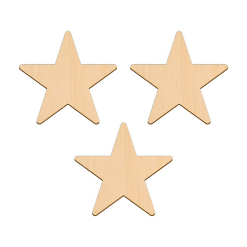 Cinq Point Star Shape Craft 12.7 cm en blanc en bois de bouleau décoration Signe TAG