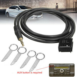 6000CD-AUX-Input-Adapter-Cable-Cord-3-5mm-Jack-MP3-Phone-Removal-Keys-For-Ford