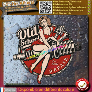 Stickers-autocollant-pin-up-old-school-bougie-piston-pin-up-pinup-bobber-harley