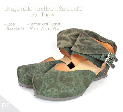 Kessy Femmes Sandale Semelle en caoutchouc Comfort ** Fabriqué en UE ** Rustique Cuir Think