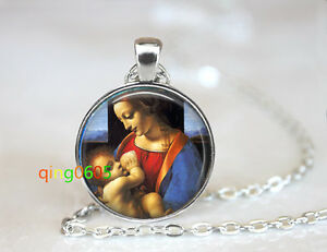 Mother and Baby Horse Cabochon Glass Tibet Silver Locket Pendant Necklace