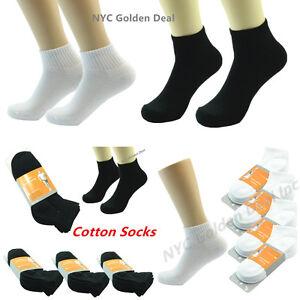 3-12-Pairs-Ankle-Quarter-Crew-For-Men-Socks-95-Cotton-Low-Cut-Size-9-11-10-13