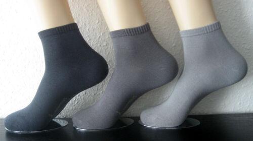 3 Paar Harmony Damen Bambus Sneaker Kurzstrumpf Socken viele Farben 35 bis 42