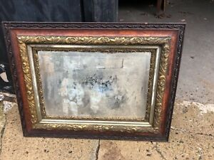 C1890 Highly Ornate Oak Vintage Picture