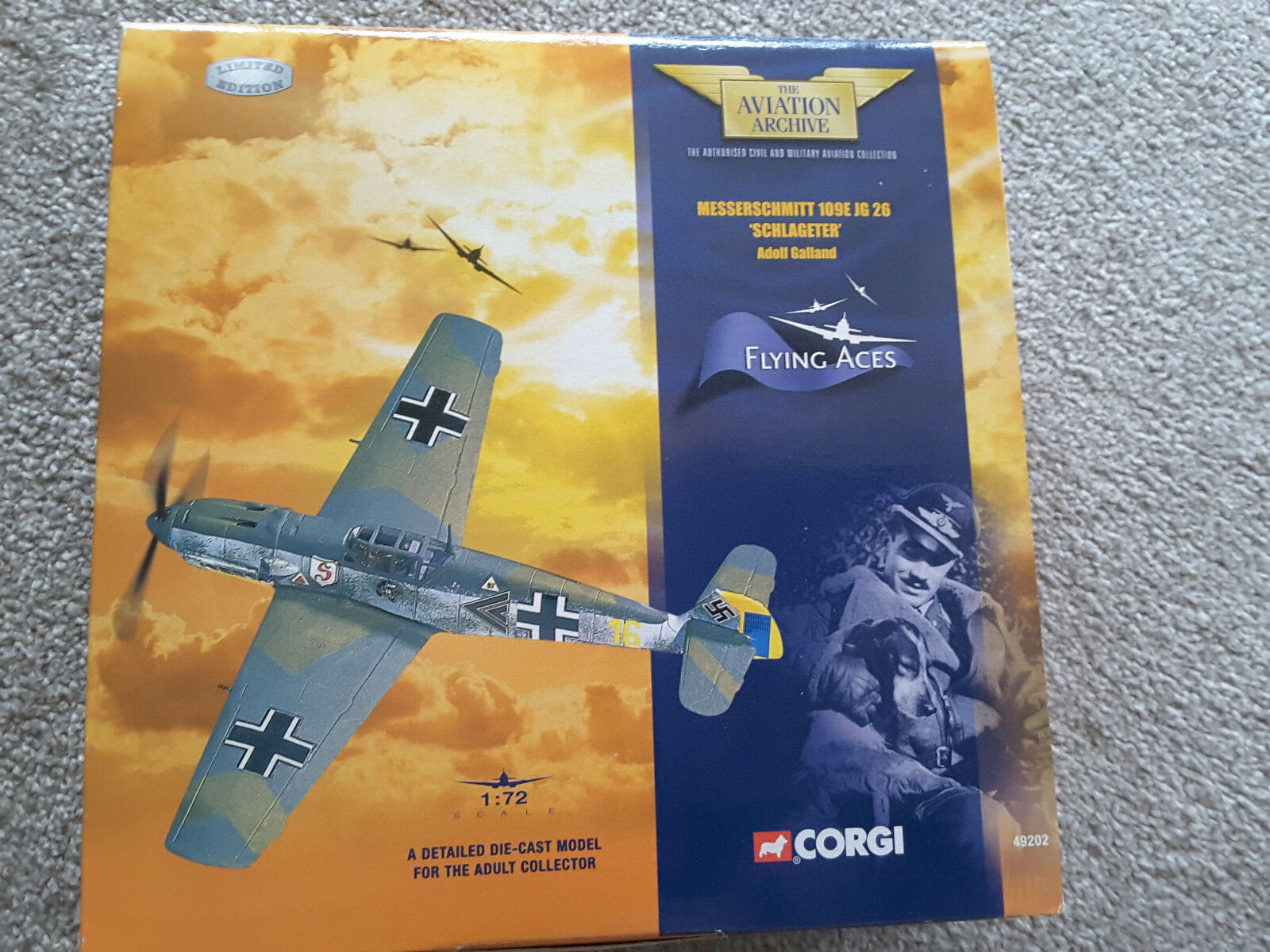 Corgi Model, Messerschmitt 109E JG 26 'Schlageter' Adolf Galland