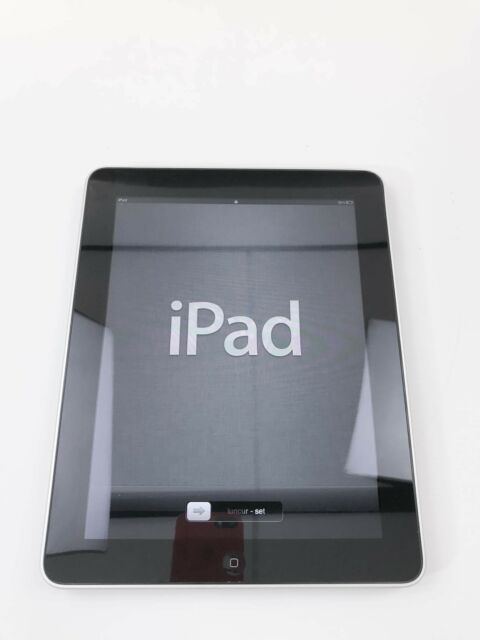 APPLE iPad 1 First BLACK Schwarz Wi-Fi 16GB A1219 UNLOCKED #331