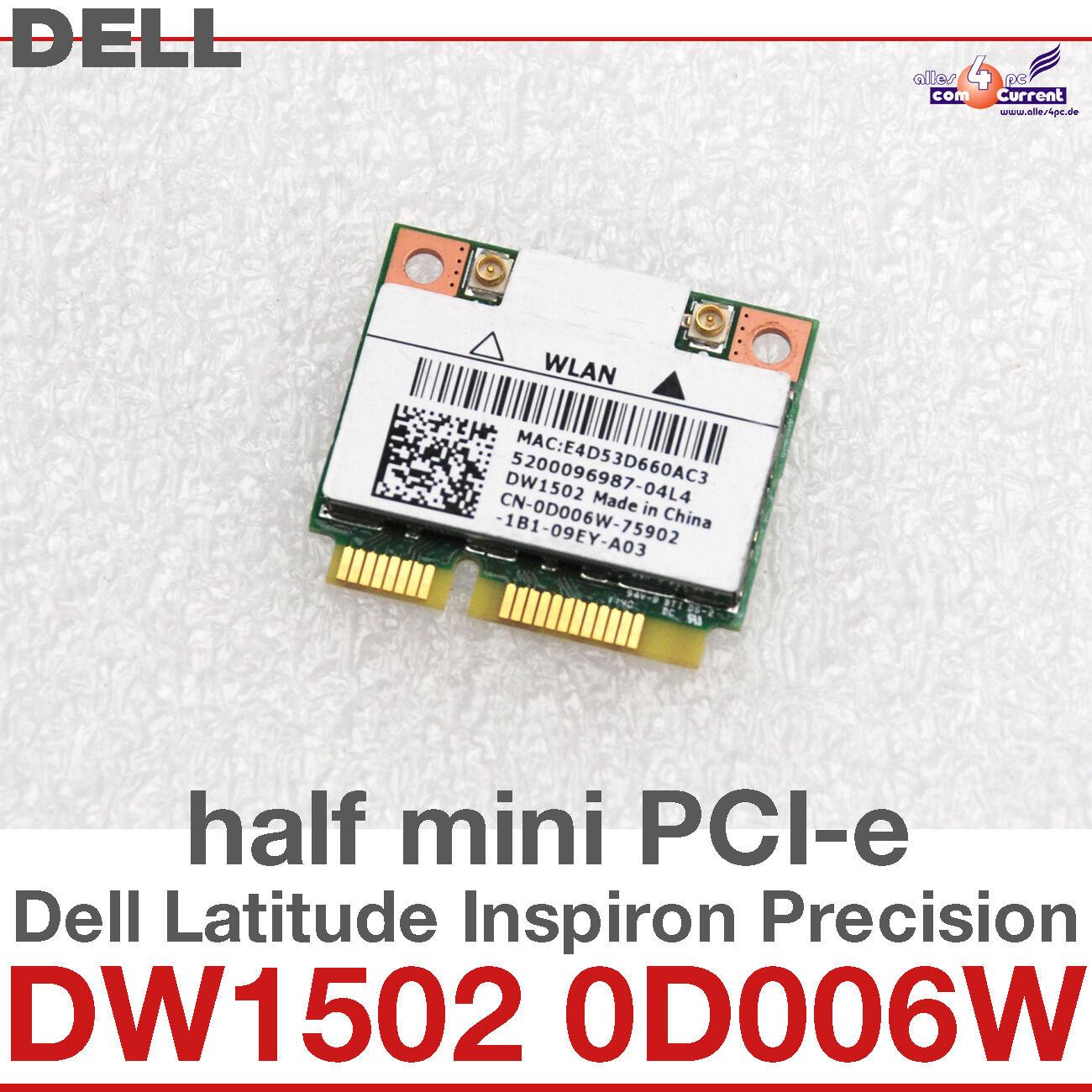 wi-Fi WLAN Wireless Card Network Card Dell Mini Pci-E DW1502 0D006W Atheros D32