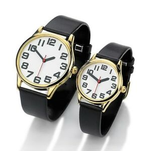 mens w women 039 s big time large number numeral watch new image is loading mens w women 039 s big time large