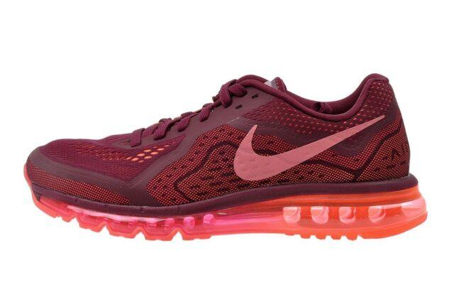 Nike Air Max 2014 Running Shoes Mens 10.5 Garnet Red HYPER Mango 621077 600