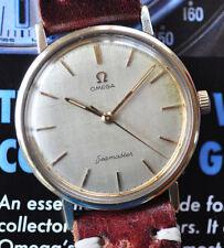 Vintage 1960s Omega Seamaster Original Satin Dial Patina Serviced Excellent Time