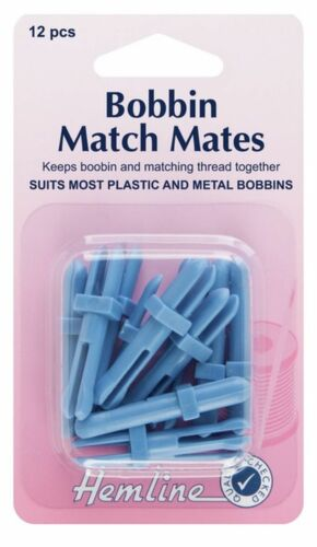 Hemline Bobbin Match Mates Sewing Machine Spool Suits Plastic /& Metal H137