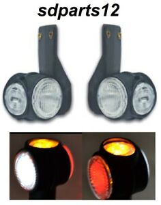 2-x-12V-24V-LED-ROUGE-FEUX-DE-GABARIT-ROUGE-BLANC-ORANGE-CAMION-CARAVANE