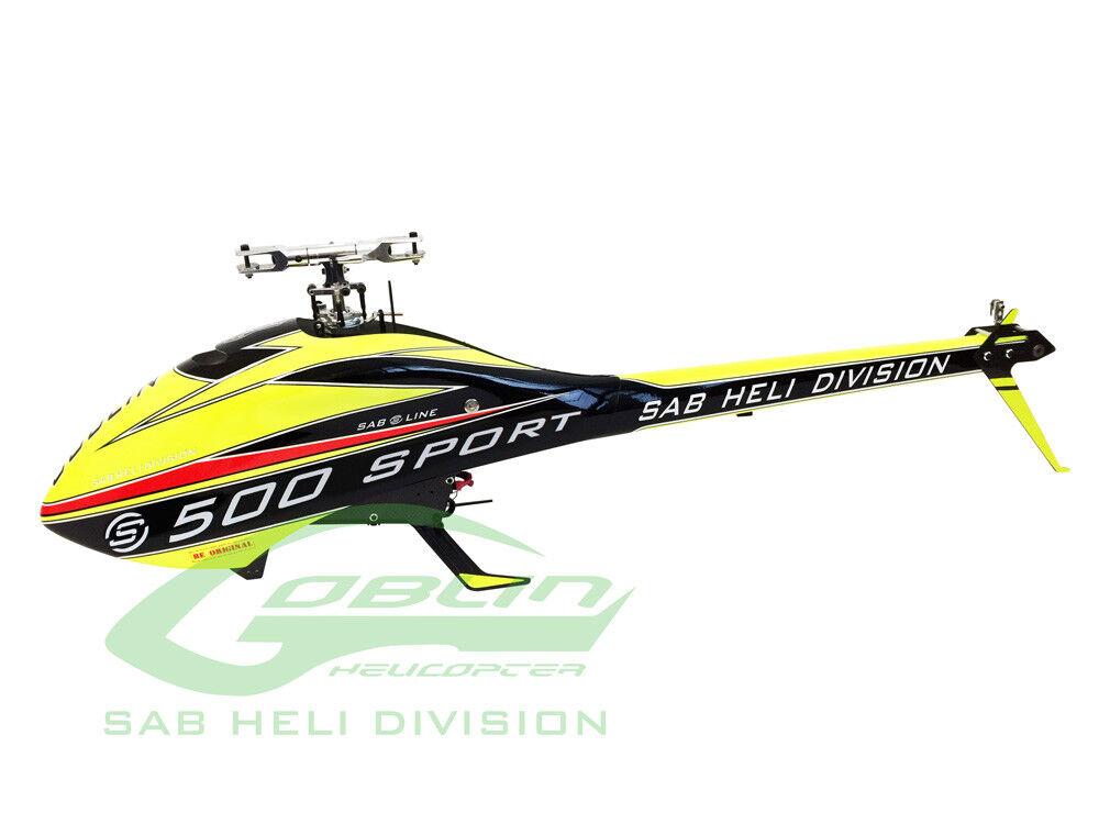 Línea del deporte SAB Goblin 500 SG514 - Flybarless helicóptero Kit 6S