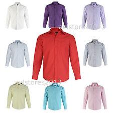 Shirt Plain Formal Party Wedding Long Sleeve Boys Kids New  Age 1 - 15 Years