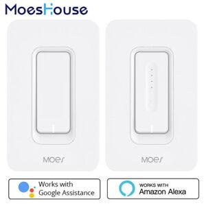 US-WiFi-Smart-Wall-Light-Switch-Dimmer-APP-Control-No-Hub-Work-Alexa-Google-FL