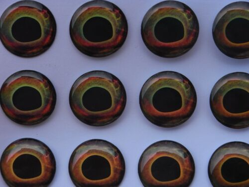 Brochet mouches Bass, leurre B 100 X 3D holographique 8 mm real fish eyes Pour Fly Tying