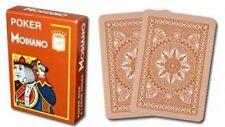 Modiano Cristallo Plastic Playing Cards, 4 PIP Jumbo Index, Brown