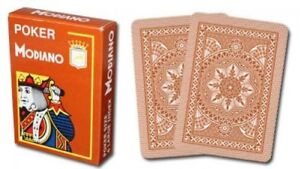 Modiano Cristallo Plastic Playing Cards Red 4 PIP Jumbo Index