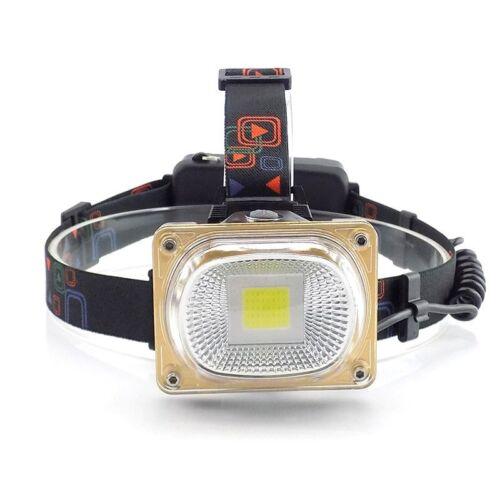 LED COB Headlamp flashlight Frontal Lantern High Power head torches wide lights