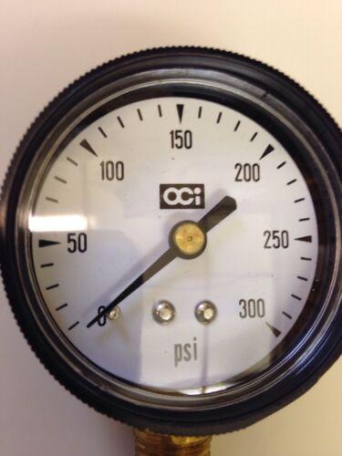 "0-300 PSI  Pressure Gauge 1//4NPT Bottom Mount 2/""Diameter Face New"
