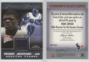 2004 Fleer Platinum Portraits Jerseys #PP AJ Andre Johnson Houston