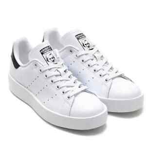 cdad2d379f93 New Adidas Original Womens Stan Smith Bold S75213 White Black US 5.0 ...
