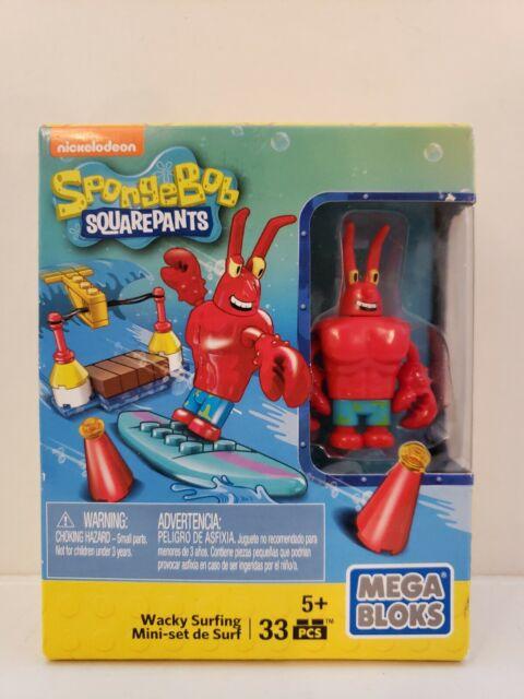 MEGA BLOKS Spongebob Squarepants Wacky Surfing Building Playset Toy Gift New
