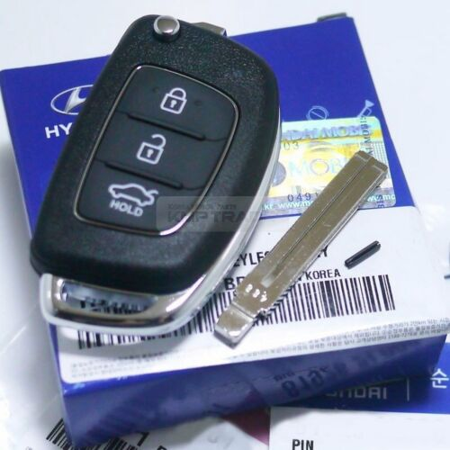 OEM Keyless Entry Fob Folding Key Remote Control Blank For HYUNDAI 11-16 Verna