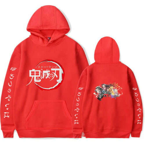 Kimetsu no Yaiba Hoodies Men Women Kids Lovely Pullover Jumper Demon Slayer