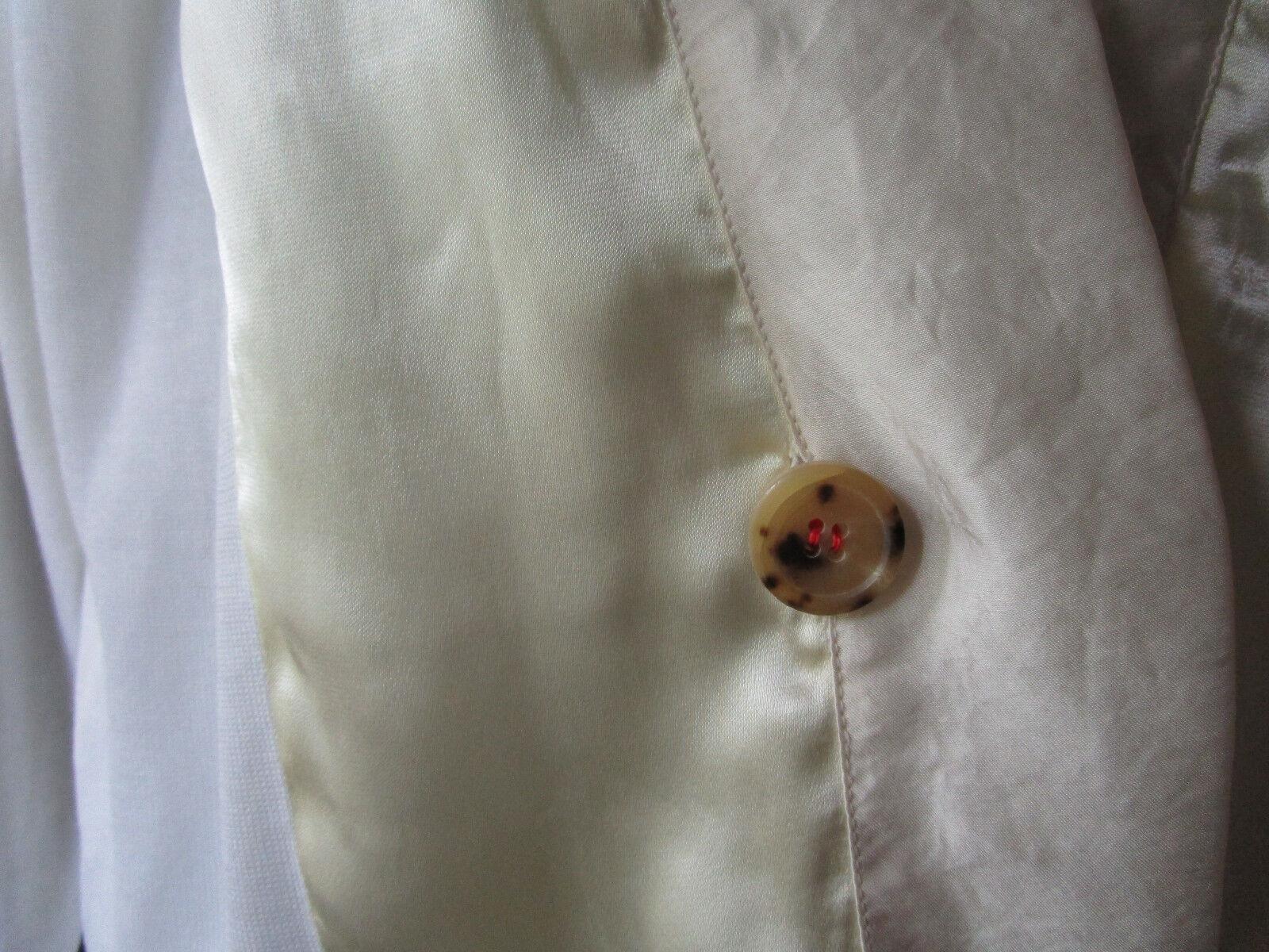 Lanvin Designer Ivory Cotton Silk One Button Thin knit Cardigan Cardigan Cardigan Sz L 34b1ec