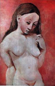 PICASSO-1946-LITHOGRAPH-w-COA-UNIQUE-Pablo-Picasso-NUDE-print-EXCLUSIVE-RARE-ART
