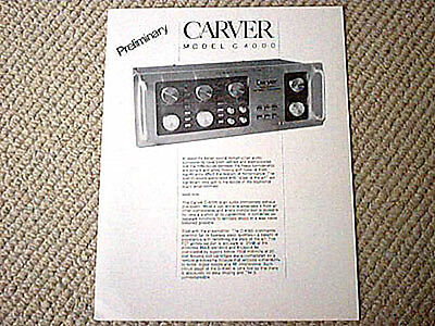 Carver C-500 Amplifier Owners Manual