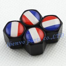 Black Styling Metal Car Wheel Tyre Tire Stem Air Valve Cap For French Flag