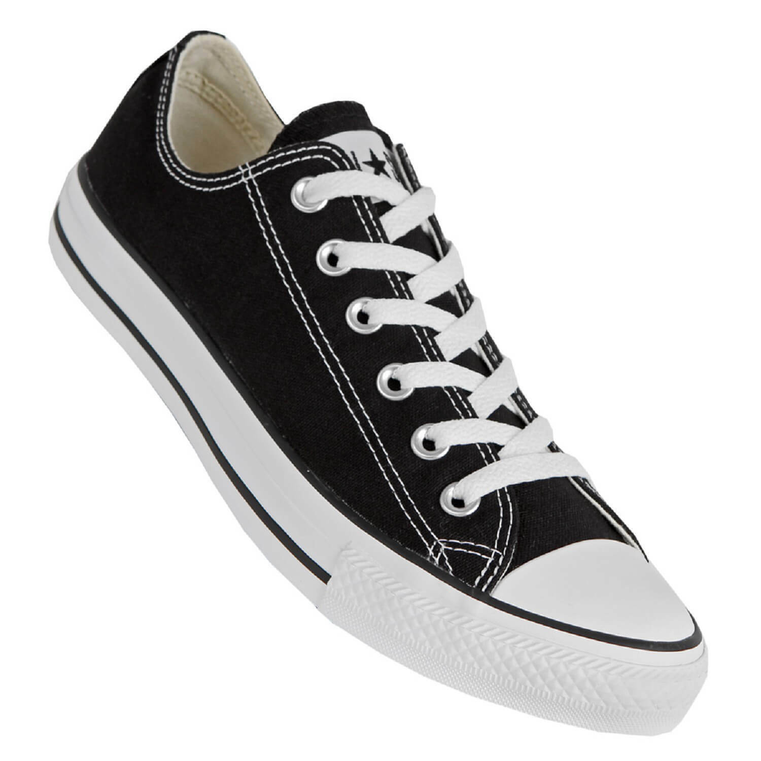 CONVERSE CHUCKS AS LO Negro Blanco - CT AS CHUCKS OX flache Chucks 8170cf
