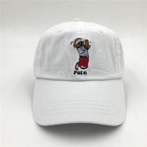 NWT Polo RL Embroidery Teddy Golf Bear Cap Athlet Men s Baseball Hat ... 29bfc7e72bc