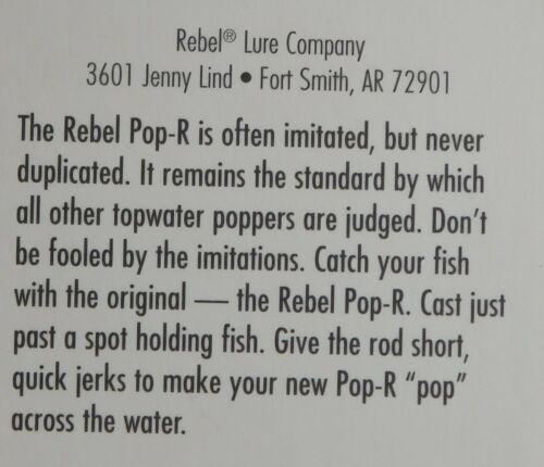 "Tennessee Shad Rebel Pop-R 2.5/"" 1//4oz"