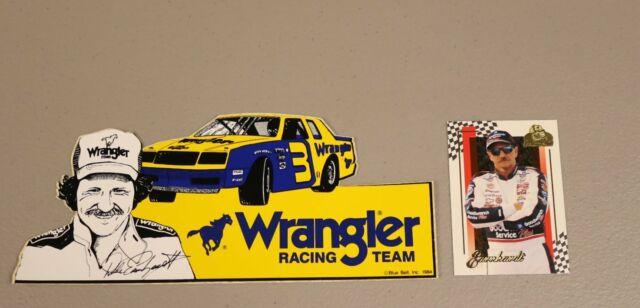 1980s Original Dale Earnhardt Sr Wrangler Race Team Bumper